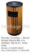 LD-WORB-245W POWDER COATING WITH WOOD WASTE OUTDOOR BINS POWDER COATING AND WOOD WASTE BINS