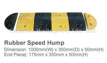 Rubber Speed Hump Including 2 End Piece.