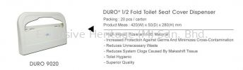 DURO 9020 Toilet Seat Cover Dispenser Toilet Seat Cover and Clinical Roll and Industrial Roll and Dispenser