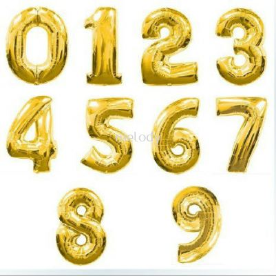 "Foil Balloon 32"" Number Gold - 2040 0102"