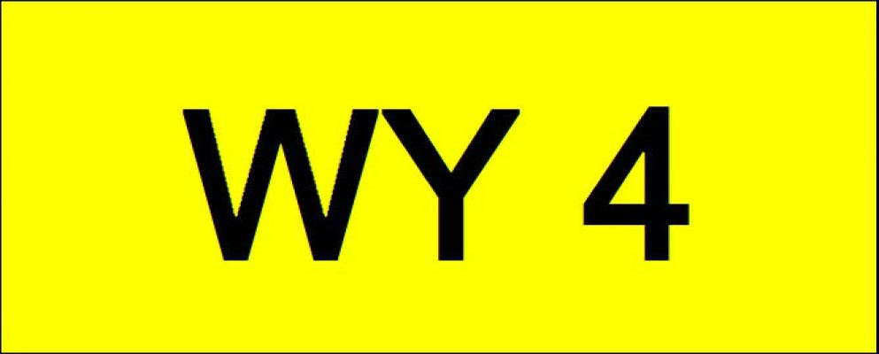 Superb Classic Number Plate (WY4)