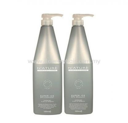 Nature collection Super Ice Spa Shampoo &Conditioner(nourishing repair for color/dry/damaged hair)1000ml