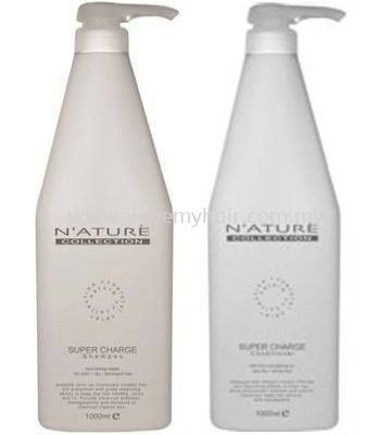 Nature collection super Charge  shampoo & Conditioner(  for color/dry/damaged hair)1000ml