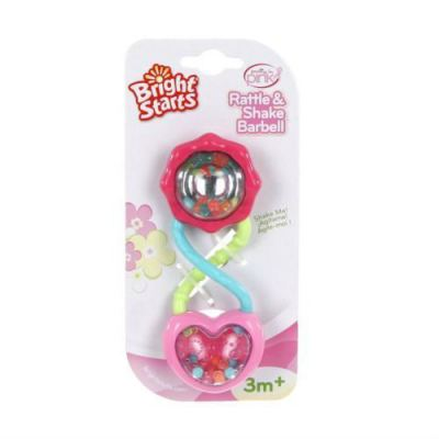 BRIGHTSTARTS PRETTY IN PINK RATTLE&SHAKE BARBELL