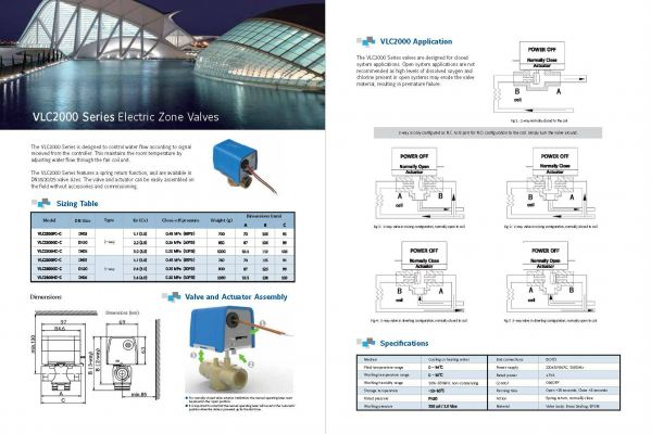 Johnson Controls VLC200 Series Electric Zone Valves