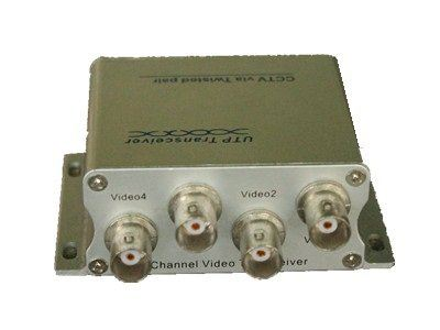 4 channel UTP passive video transceiver 300M