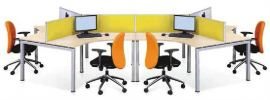 DS003 Circlu Series AS35 Desking System Workstations