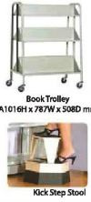 Book Trolley Library Shelving Steel Furniture