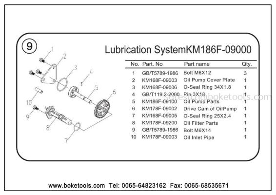 Muffler Assembly (KM186F-08000)