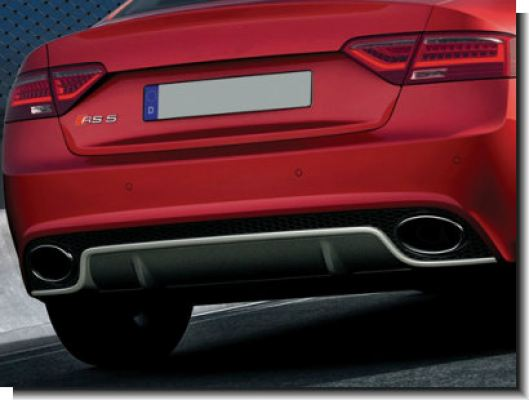 audi A5 RS rear bumper with dual pipe