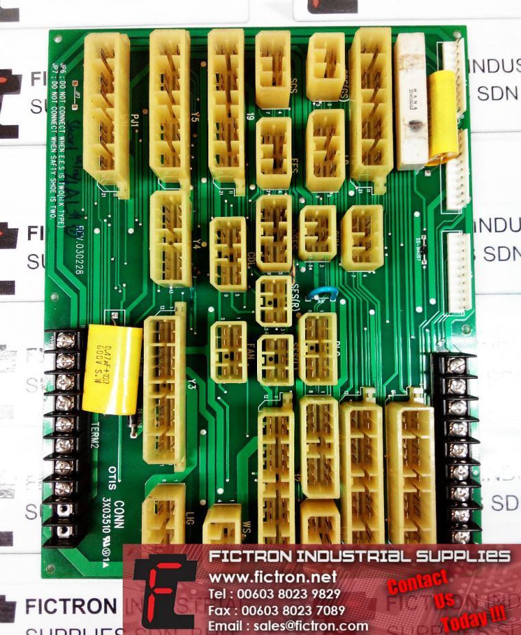 OTIS-LG CONN 3X03510 REV.030228 OTIS Elevator PCB Supply & Repair Malaysia Singapore Thailand OTIS-LG Elevator Parts