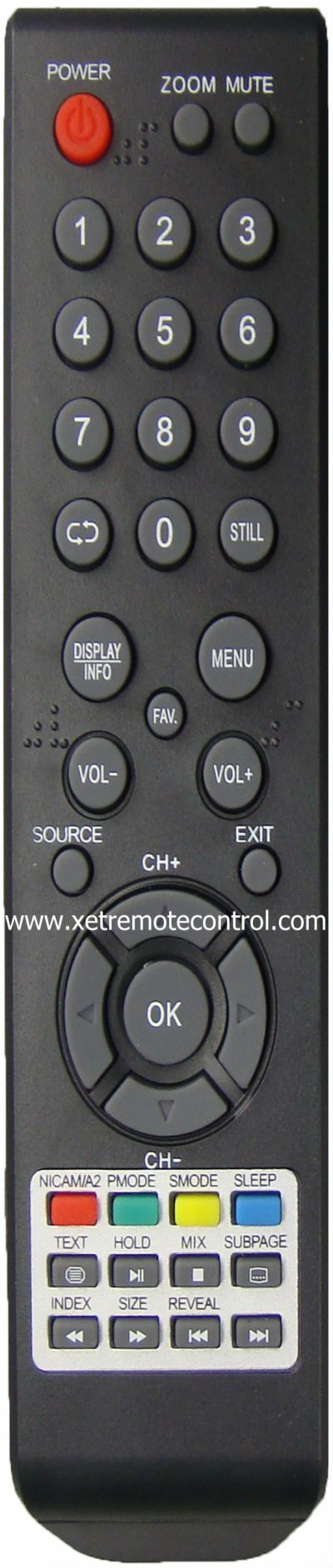 LED-22FHD MECK LED TV REMOTE CONTROL