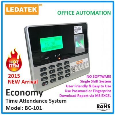 LEDATEK BC101 Biometric Time Attendance Machine