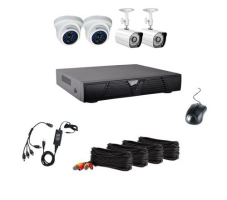 4CH CCTV Special Pack (IR Bullet & IR Dome Cameras with Recorder 500GB HDD)