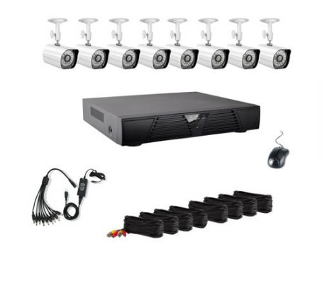 8CH CCTV Special Pack (IR Bullet Cameras with Recorder 500GB HDD)