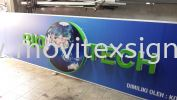 3D logo signboard and text with digital printing direct to polycarbonate with waterproof (click for more detail) Signboard / Lighting Signboard