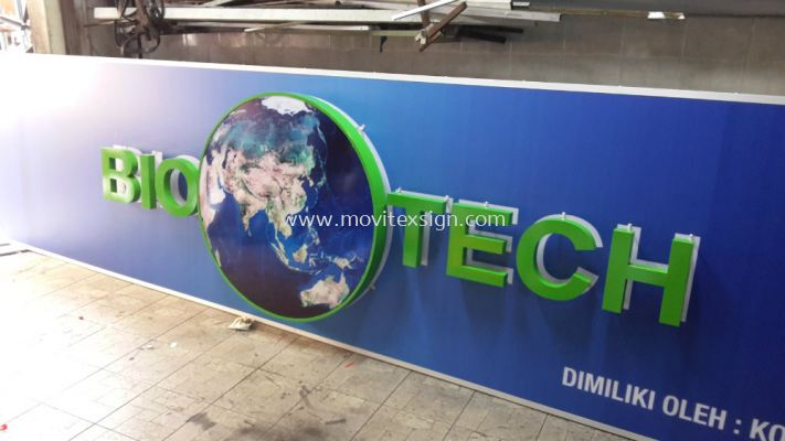 3D logo signboard and text with digital printing direct to polycarbonate with waterproof (click for more detail)