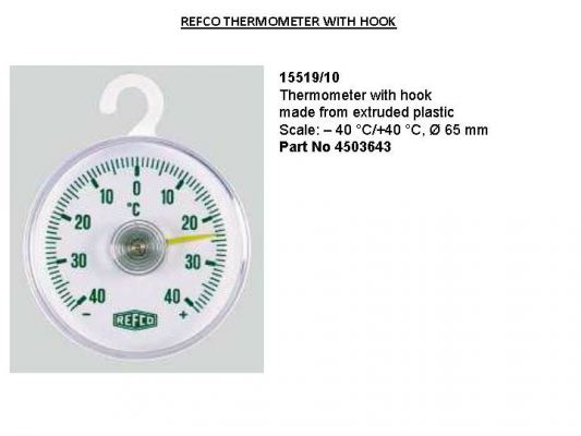 Refco 15519/10 Thermometer With Hook