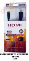 HDMI CABLE TO MINI HDMI JP-501 HDIM CABLE HDMI