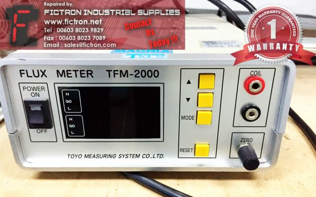 Repair Service in Malaysia - TFM-2000 Flux Meter TOYO MEASURING SYSTEMS Singapore Indonesia