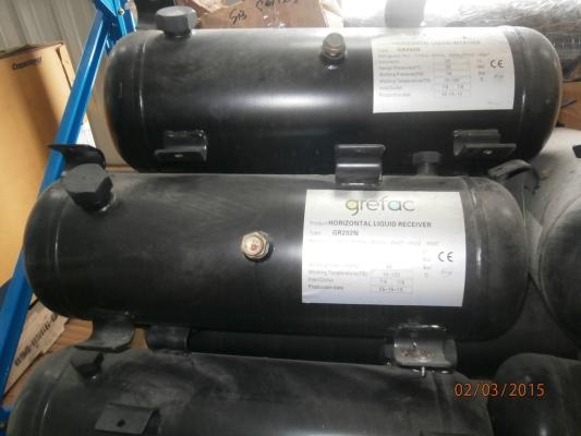 grefac Horizontal Refrigerant Liquid Receiver GR Series