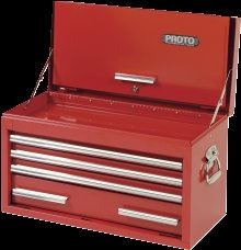 "PROTO® 440SS 27"" TOP CHEST WITH DROP FRONT - 4 DRAWER Tool Chests Tool Storage"