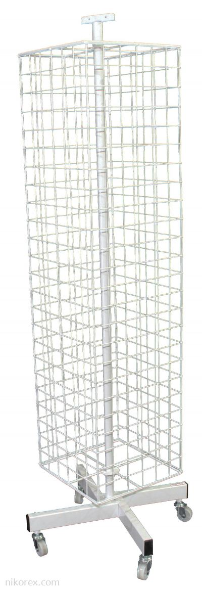 302002 - 4 Sided Square Net Rack 5'H