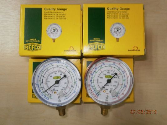 REFCO PRESSURE GAUGE (COMPOUND GAUGE) HIGH AND LOW SIDE