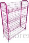"20482PN-4HX3L BASKET STAND-4L-8.5""-PINK Basket Stand Racking"