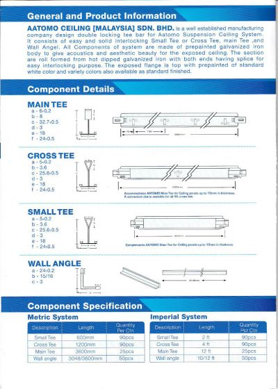 Suspension Ceiling Tee Systems