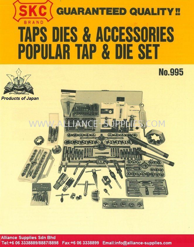 SKC (Japan) Taps and Dies Set/ Accessories 18.MACHINING REPLACEMENT PARTS