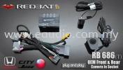 Redbat RB686 Honda City/Jazz Oem Front & Rear Camera Redbat Camera