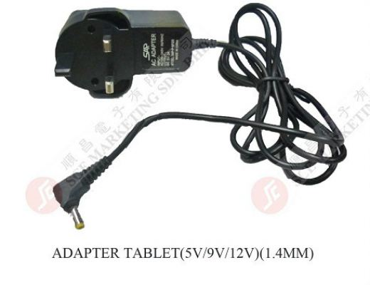 GAME ADAPTOR TABLET (5V,9V,12V) 1.44MM