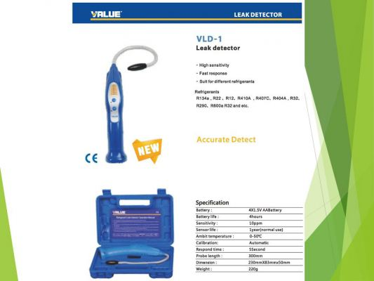 VALUE VLD-1 (R32) Refrigerant Leak Detector