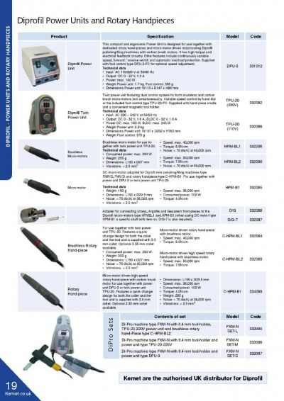 Diprofil - Power Units and Rotary Handpieces