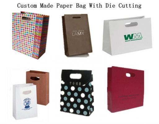 Paper Bag With Die Cutting