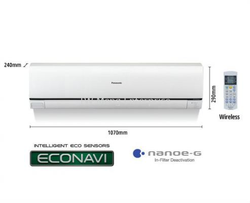 2.0HP ECONAVI Non-Inverter Deluxe Air Conditioner CS-C18QKH (CU-C18QKH)