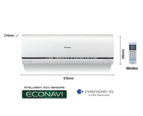 1.5HP ECONAVI Non-Inverter Semi Deluxe Air Conditioner CS-KC12QKH (CU-KC12QKH)