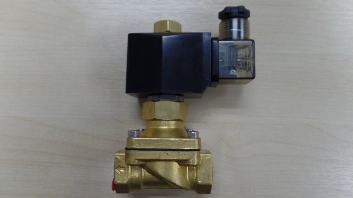 GP SOLENOID VALVE NO (NORMALLY OPEN) 2/2 WAY BRASS BODY (0-7BAR) C/W COIL 240V/50HZ LED/VDR