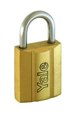 Y140/20 - Yale 140 Series Brass Padlock 20mm Outdoor Padlocks Security Locks