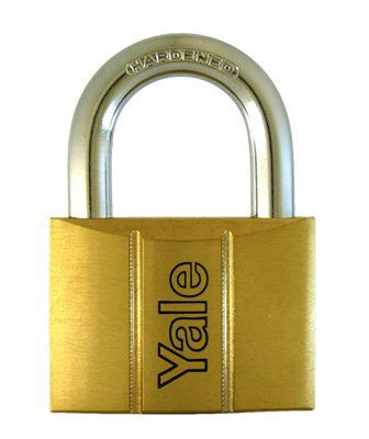 Y140/30 - Yale 140 Series Brass Padlock 30mm Outdoor Padlocks Security Locks