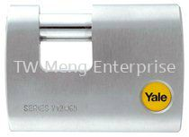 Y124/60/110 - Yale Silver Series Outdoor Brass / Satin Straight Shackle Padlock (Baron Shackle) 60mm