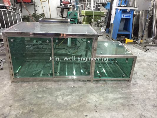 Stainless Steel TV Stand ,Templeted glass