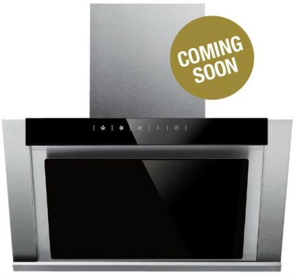 Kitch KCH-3328 Black Glass Angled Cooker Hood