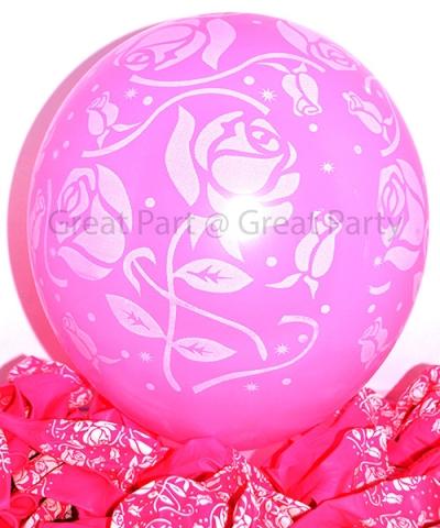 Pink Balloon Rose (10pcs)