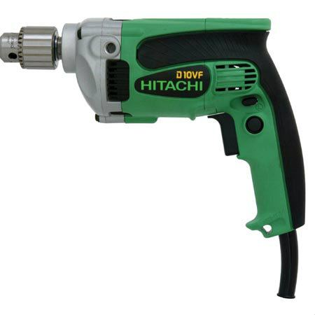 "Hitachi - D10VF 3/8"" 9-Amp Drill, EVS, Reversible Drill Driver Power Tools / Electrical Tools"
