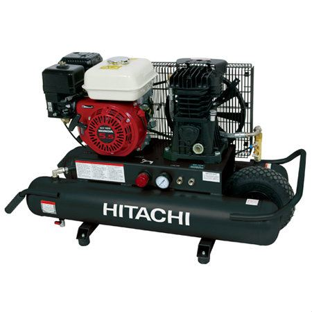 Hitachi - EC2510E 8-Gallon Gas Powered Wheeled Air Compressor Pneumatic Tools