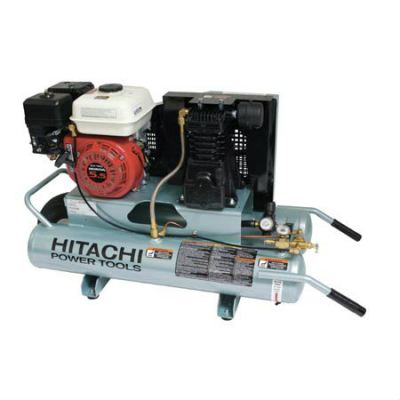 Hitachi - EC25E 8-Gallon Gas Powered Wheeled Air Compressor