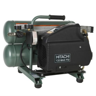 Hitachi - EC89 4-Gallon Portable Electric Twin Stack Air Compressor