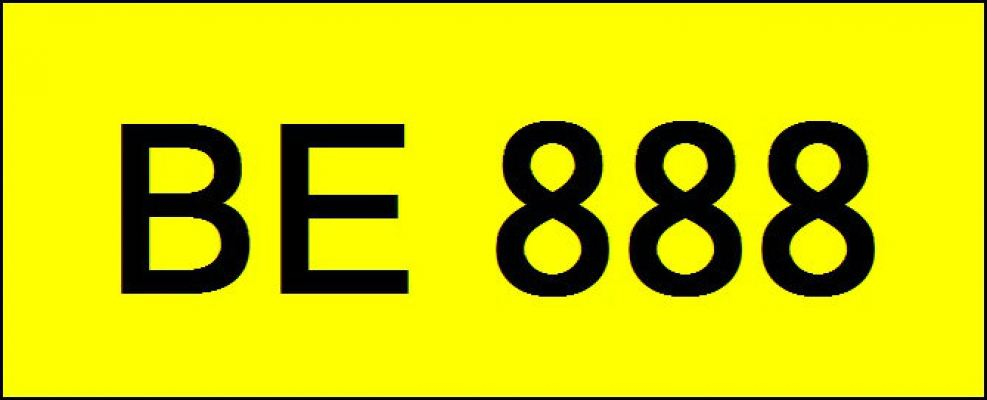Number Plate BE888